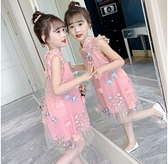 女童洋裝 連身裙2021新款夏裝兒童旗袍夏季裙子洋氣女孩中國風公主漢服 百分百
