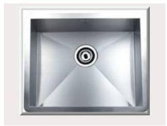 系統家具 系統家具客製化訂做 赫里翁【進口韓國CONI-SQS500手工方形水槽】