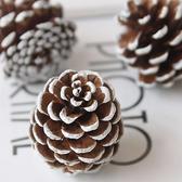 永生花車掛花環製作配材,天然刷白松果聖誕節裝飾品,拍攝道具擺件,單個價格