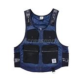 Nike 背心 GREAT UNITY VEST 藍 黑 機能 多口袋 男款 世界大同【ACS】 DN1440-010