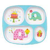 日式寶寶四格吃飯盤 可愛卡通仿瓷密胺兒童餐具分格餐盤耐摔餐盤第七公社