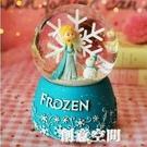 音樂盒 發光雪花水晶球音樂盒旋轉八音盒兒童節送小女孩閨蜜公主生日禮物