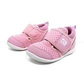 《7+1童鞋》小童 日本月星 MOONSTAR 透氣 機能鞋 運動鞋 學步鞋 D485 粉色
