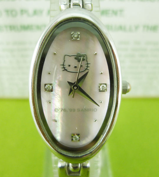 【震撼精品百貨】Hello Kitty 凱蒂貓~手錶-橢圓貝殼面【共1款】