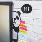 Qmishop 動物躲貓貓造型 螢幕側邊留言板 壓克力 便條紙 桌面收納 療癒【QJ1735】