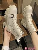 英倫風女鞋 馬丁靴女英倫風2021新款韓版百搭厚底機車短靴秋冬鞋子切爾西女靴 小天使