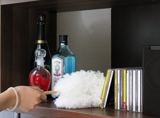 日本tidy桌上型除塵撢 超細纖維不揚塵 設計感外觀 清洗可重複使用