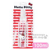 〔小禮堂〕Hello Kitty 噴霧式空瓶《透明.大臉.愛心.100ml》可自由補裝內容物 4712977-46129