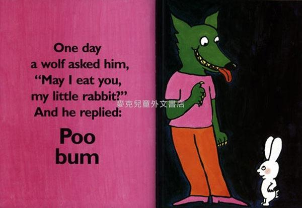 【麥克書店】POO BUM (超人兔:誰是便便噗)  /英文繪本 《主題:幽默.品格教育》