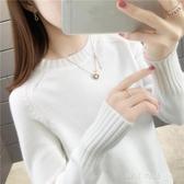 毛衣女士時尚2019秋冬新款圓領寬鬆外穿加厚內搭洋氣針織打底衫女