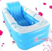 汗蒸箱 加大號桑拿浴箱家用熏蒸機摺疊月子發汗機汗蒸箱兩用泡澡充氣浴缸T 2色