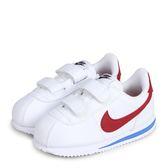 Nike Cortez Basic SL TD 白藍紅 皮革 黏帶 復古 阿甘 小童 904769-103【Speedkobe】