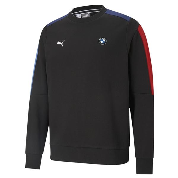 Puma BMW 男款 黑色 長袖 上衣 棉質 聯名款 運動 休閒 保暖 長厚 T恤 59950701