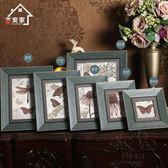(雙12購物節)木質相框 創意照片墻框擺台方8寸兒童相片架畫框