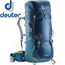 Deuter 4340318海軍藍/藍 65+10L拔熱式透氣登山背包 Aircontact Lite健行包/自助旅行後背包