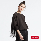 Levis 女款 大學T / 時尚大流蘇 / 寬鬆落肩設計