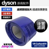 [建軍電器] 全新原廠 Dyson V7 V8 carbon fibre 適用 後置濾網 HEPA 濾網 加長版