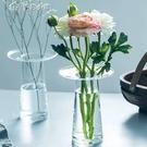 花瓶玻璃插花花瓶擺件北歐家居客廳餐廳裝飾樣板房電視柜花藝花器簡約YYS 快速出貨