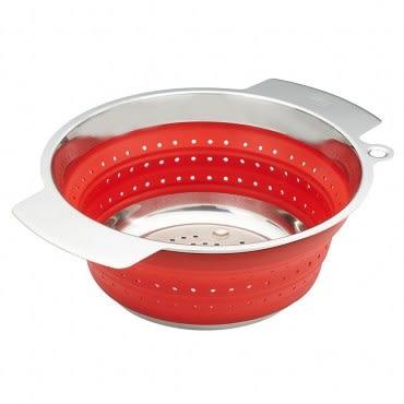 Rosle 折疊式 濾水籃 水果籃 洗菜籃 24 cm 紅色