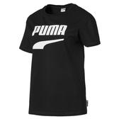 Puma Logo 女 黑 短袖 運動短袖 T恤 流行系列 運動上衣 短T 休閒 上衣 57910001