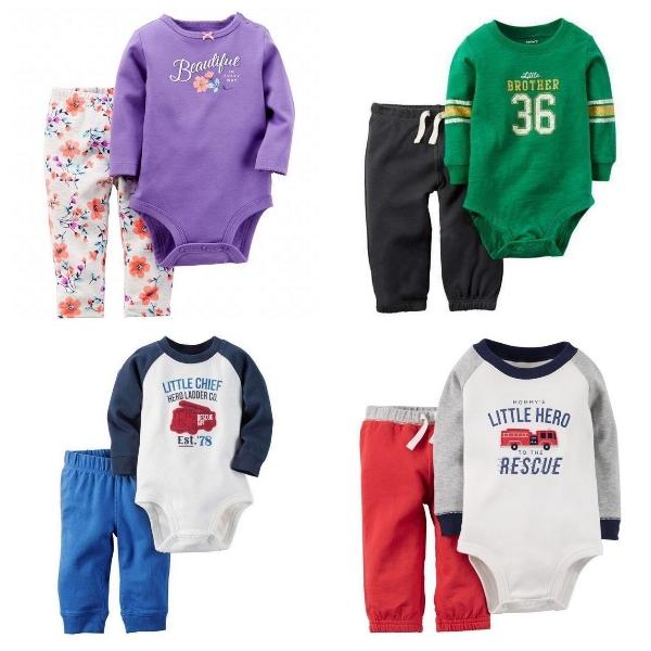嬰兒長袖套裝 撞色寶寶包屁衣+棉質長褲 LZ8916 好娃娃