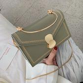 手提包洋氣小包包女2019夏季手提韓版側背包時尚鏈條百搭側背小方包 芊墨左岸