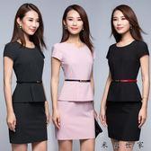 春夏職業套裝女短袖連身裙