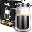 Kaffe【美國代購】法式濾壓咖啡壺 雙層硼矽酸鹽玻璃27盎司 6KF1010