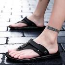 夾腳拖鞋 涼鞋男外穿百搭個性潮流男士沙灘鞋韓版人字拖鞋室外兩用夾腳涼拖