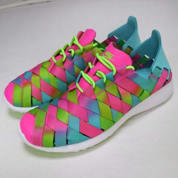 【NG出清】Nike 休閒鞋 Wmns Juvenate Woven PRM 彩色 運動鞋 女鞋 大小腳 左腳US8 右腳US8.5【PUMP306】