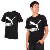 PUMA 流行系列男款Logo短袖T恤 (短T 短袖上衣 慢跑 訓練 路跑 免運 ≡排汗專家≡