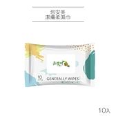 悠安美 潔膚柔濕巾 10入 濕紙巾【PQ 美妝】