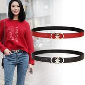 皮帶女裝飾簡約百搭休閒韓國韓版潮流時尚牛仔褲帶青年學生紅腰帶  伊莎公主