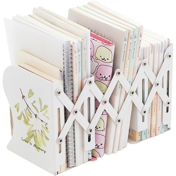 伸縮書立架創意高中生學生用書架簡易桌上摺疊收納放書夾書擋書立【八折搶購】
