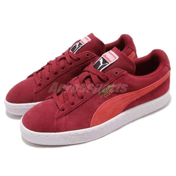 【六折特賣】Puma 休閒鞋 Suede Classic Wns 紅 白 麂皮 運動鞋 女鞋【PUMP306】 35546250