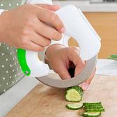 ✭慢思行✭【Q229】圓形滾動式菜刀 廚房 刀具 切片 不鏽鋼 料理 烘焙 備料 環型 蛋糕 點心