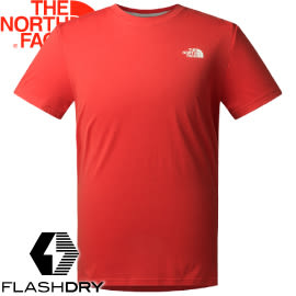 【The North Face Men's S/S Reaxion Tee男款 短袖排汗衣〈紅〉】2SM4/短袖排汗衣/排汗衣/運動短袖★滿額送