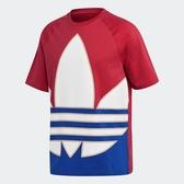 ADIDAS 短T BIG TREFOIL 紅白藍 國旗配色 三葉草 大LOGO 短袖 T恤 男 (布魯克林) GE6222