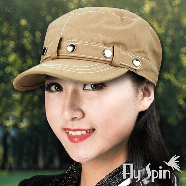 平頂軍帽子-全棉亮扣時尚遮陽軍人帽13SS-W043 FLY SPIN