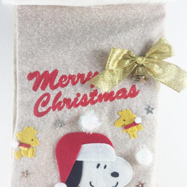 【震撼精品百貨】史奴比Peanuts Snoopy ~聖誕袋-史努比圖案-咖啡色