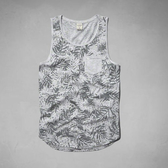 A&F Abercrombie&Fitch AF 刺繡麋鹿口袋配色當季現貨男款背心-淺灰