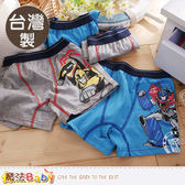 男童內褲(四件一組) 台灣製變形金剛正版純棉平口內褲 魔法Baby