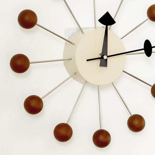 時鐘 手錶 掛鐘 鐘 簡約 壁鐘 【R0009】GN Ball Clock 經典彩球鐘/時鐘(胡桃木) 收納專科