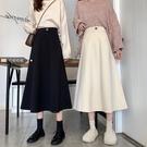 胖mm大碼女裝半身裙顯瘦2021春款設計感小眾高腰a字裙子長裙女