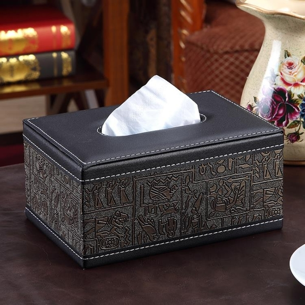 面紙盒 紙巾盒客廳簡約茶幾餐巾紙盒家用創意紙抽收納盒歐式車用皮抽紙盒 快速出貨