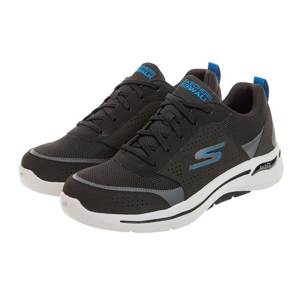 SKECHERS GO WALK ARCH FIT 黑藍 男 透氣 網布 舒適 運動 健走鞋 216122BKBL
