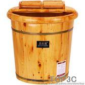 百年羚香柏木足浴桶泡腳木桶家用帶蓋洗腳桶木質足浴盆實木加高「Top3c」