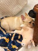 玩具公狗泰迪法斗小型犬睡覺伴侶磨牙耐咬毛絨用品 全館免運