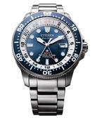 CITIZEN 星辰 光動能 鈦金屬GMT 男錶(BJ7111-86L) 藍/43mm