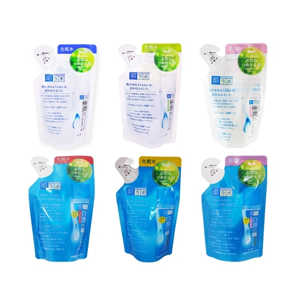 ROHTO肌研 白潤/極潤玻尿酸超保濕化妝水/保濕乳液-補充包【小三美日】
